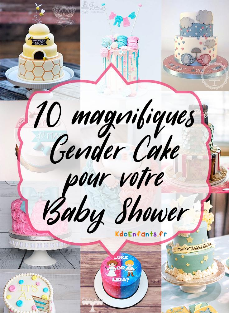 10 magnifiques Gender Cake pour votre Baby Shower !