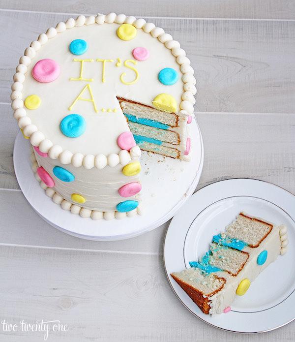 Gender Reveal Cake Subtil