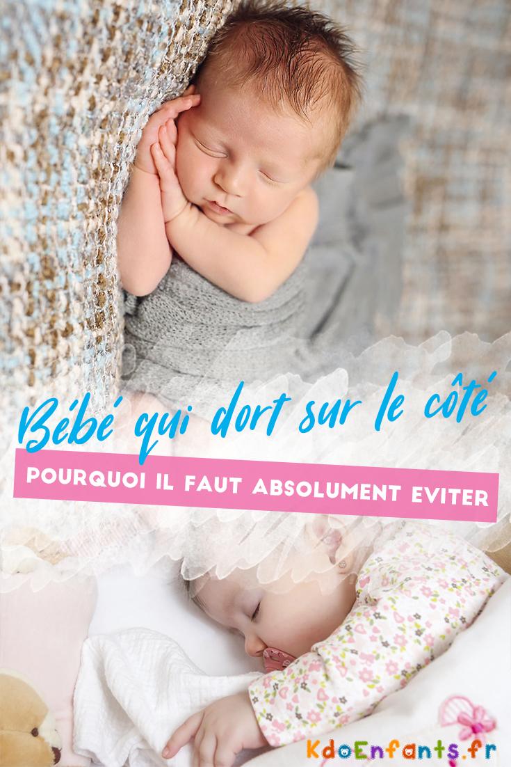Pourquoi il faut éviter que bébé dorme sur le côté ? Cette position peut entraîner de nombreux problèmes pour votre nouveau-né !