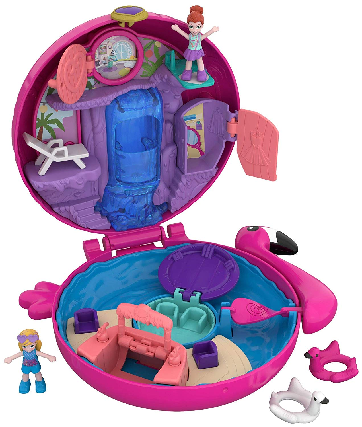 Polly Pocket Piscine du Flamant Rose